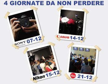 Da La Placa dicembre con Sony, Canon, Nikon e Leica