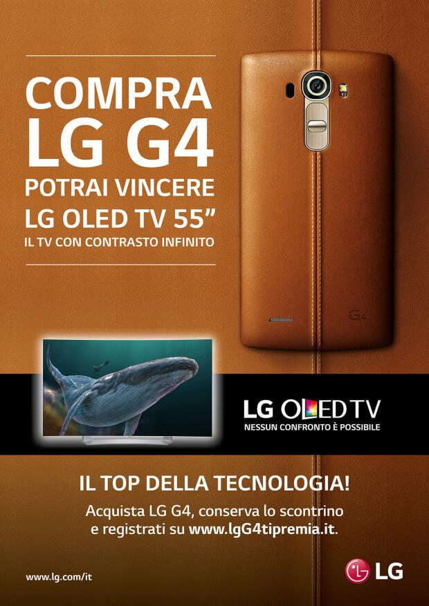 Con LG G4 vinci un TVLGOled