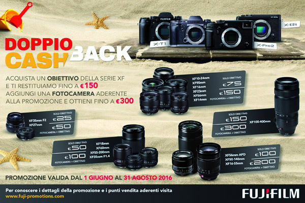 Fujifilm Cash Back Estate, l'occasione giusta