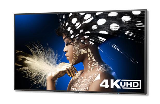 NEC ad ISE con i monitor 4K UHD Multisync serie P e V