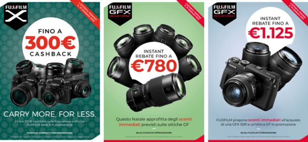 Fujifilm, Cashback e Istant Rebate