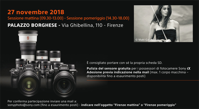 Sony Professional Workshop Firenze