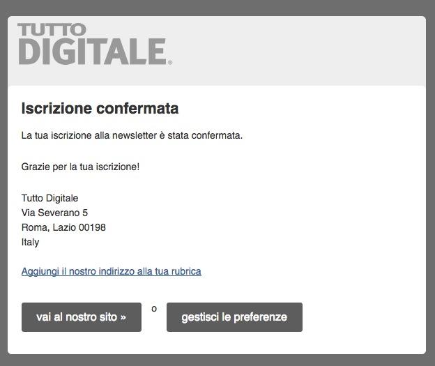 Newsletter Tutto Digitale