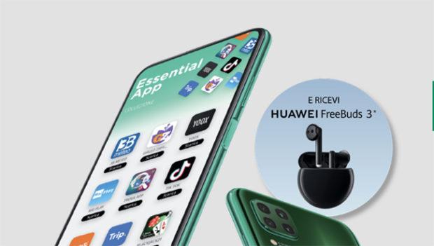 Con Huawei P40 lite in regalo le cuffie wireless