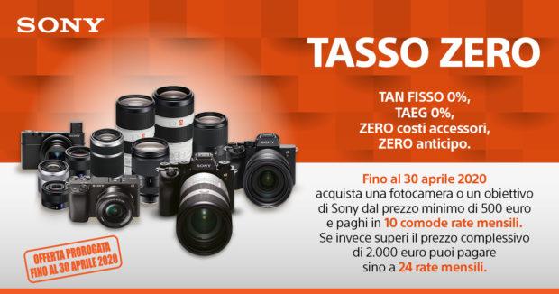 Sony 'Tasso Zero', c'è tempo sino al 30 aprile
