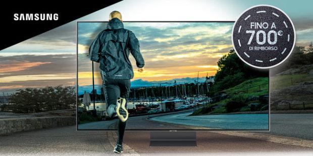 Riparti con Samsung: fino a 700 euro di rimborso su TV QLED