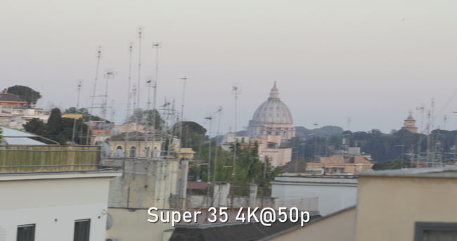 Canon C500MIII rolling shutter Super 35 4K@50p
