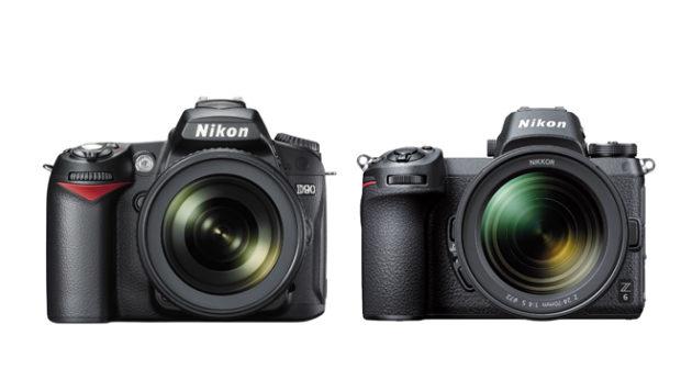 Fotocamera Reflex  Nikon D90  –  Fotocamera Mirrorless Nikon Z6