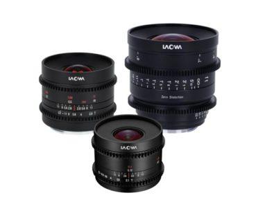 Laowa 7.5mm T/2.1 MFT, 9mm T/2.9 APS-C & Super-35 e 15mm T/2.1 Full Frame & Vista Vision