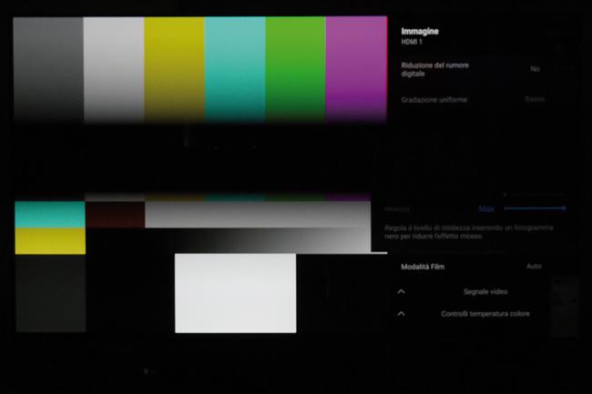 Sony A8 TV OLED test BFI
