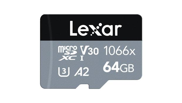 microSD Lexar Professional 1066x serie Silver, piccola e veloce