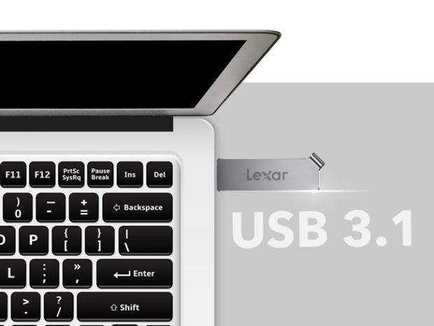 Lexar JumpDrive D30c, l'unità flash double face