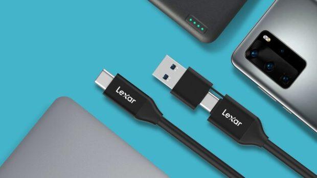Lexar 3.2 Tipo-C 2-in-1, USB A e C con un unico cavo