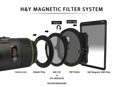 sistema di filtri fotografici con portafiltri magnetico H&Y